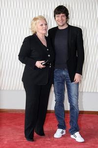 Katia Ricciarelli and Fabio de Luigi at the photocall of