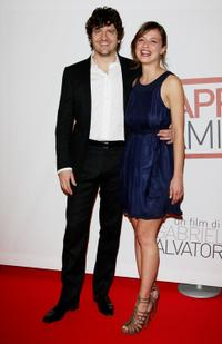 Fabio de Luigi and Valeria Bilello at the premiere of