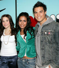 Sophia Bush, Daniella Alonso and James Lafferty at the MTV's Total Request Live in New York.
