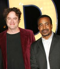 Matt Besser and Tim Meadows at the premiere of