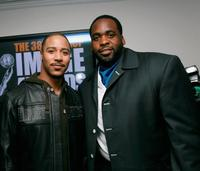 Brian J. White and Kwame Kilpatrick at the 38th Annual Image Awards.