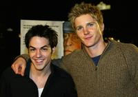 David Lago and Thad Luckinbill at the premiere of