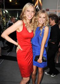 Riki Lindhome and Sara Paxton at the premiere of