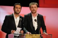 Gilles Lellouche and Jean-Paul Rouve at the Cesar Film Awards 2008.