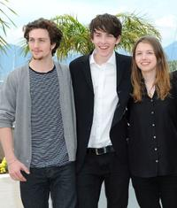 Aaron Johnson, Matthew Beard and Hannah Murray at the photocall of