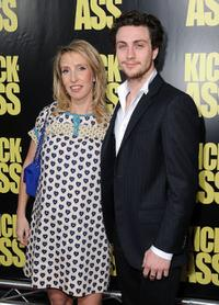 Director Sam Taylor Wood and Aaron Johnson at the California premiere of