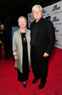 British consul-general Dame Barbara Hay and Martin Jarvis at the official launch of BritWeek 2012 in California.