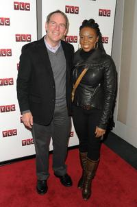 Dan Birman and India.Arie at the premiere of