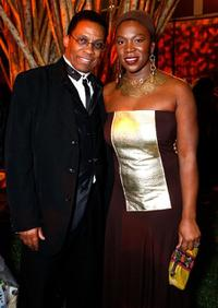 Herbie Hancock and India.Arie at the 39th NAACP Image Awards.
