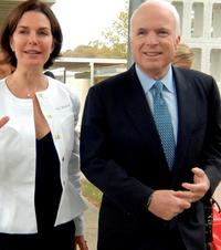 Sela Ward and John McCain at the Hope Village for Children.