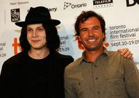 The White Stripes and Emmett Malloy at the press conference of