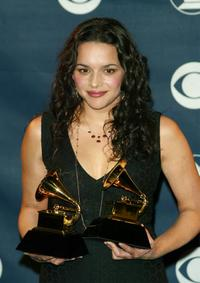 Norah Jones at the 45th Annual Grammy Awards.