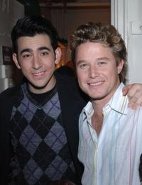 Max Crumm and Billy Bush at the Brooks Atkinson Theatre in New York City.