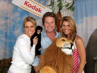 Cheryl Hines, Billy Bush and Lori Loughlin at the Kodak Photo Sharing booth during the 21st Annual