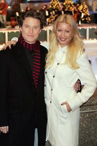 Billy Bush and Denise Van Outen at the 74th Annual Rockefeller Center Christmas Tree Lighting Ceremony.