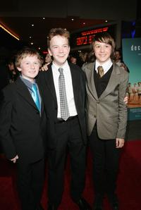 Lee Cormie, James Fraser and Christian Byers at the Sydney premiere of