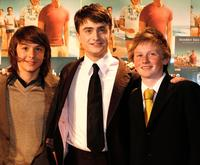 Christian Byers, Daniel Radcliffe and Lee Cormie at the premiere of