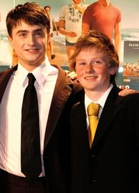 Daniel Radcliffe and Lee Cormie at the premiere of