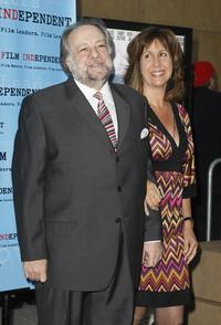 Ricky Jay and Chrisann Verges at the premiere of