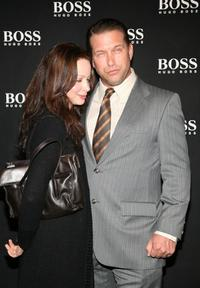 Stephen Baldwin and Kennya Baldwin at the Boss Black Spring/Summer 2008 collection show.