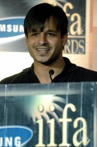 Vivek Oberoi at the press conference to announce the Indian International Filmfare Award (IIFA).