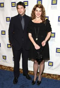 Alexis Georgoulis and Nia Vardalos at the Human Rights Campaign's Annual Los Angeles Gala.