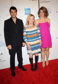 Alexis Georgoulis, Nancy Utley and Nia Vardalos at the premiere of