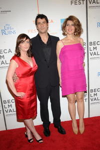 Rachel Dratch, Alexis Georgoulis and Nia Vardalos at the premiere of