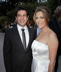 Alexis Georgoulis and Rita Wilson at the premiere of