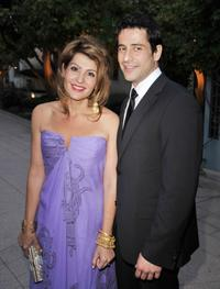 Nia Vardalos and Alexis Georgoulis at the premiere of