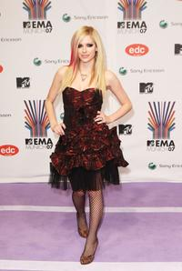 Avril Lavigne at the MTV Europe Music Awards 2007.