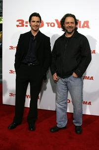 Christian Bale and Russell Crowe at the Los Angeles premiere of