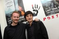 Morgan Spurlock and Lixin Fan at the New York premiere party of