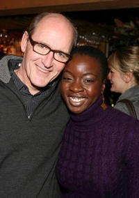 Richard Jenkins and Danai Gurira at the 2008 Sundance Film Festival for the dinner of