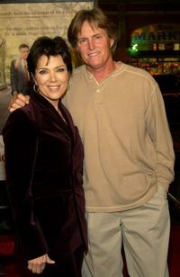 Kris Kardashian and Bruce Jenner at the Los Angeles premiere of