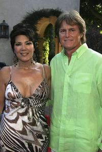 Kris Jenner and Bruce Jenner at the HollyRods Designcure 7th Annual Benefit and fashion show.