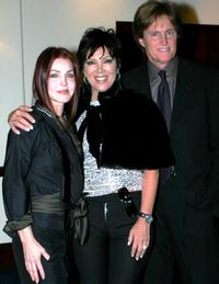 Priscilla Presley, Kris and Bruce Jenner at the First Ladies of the Dream Foundation