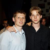 Director Greg Marcks and Stark Sands at the Hollywood Film Festival Opening Night Party.