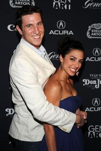 Pablo Schreiber and Jessica Schreiber at the after party of the New York premiere of