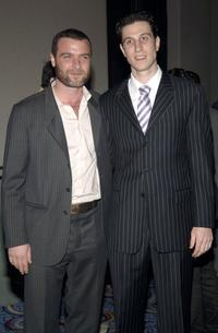 Liev Schreiber and Pablo Schreiber at the opening of the Lincoln Center Theater.