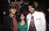 Jake Muxworthy, Martha Higareda and Beto Cuevas at the Lions Gate International AFM Cocktail Party.