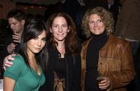 Martha Higareda, Lauren Moews and Susan Jackson at the Lions Gate International AFM Cocktail Party.