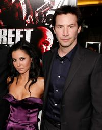 Martha Higareda and Keanu Reeves at the premiere of