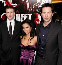 Chris Evans, Martha Higareda and Keanu Reeves at the premiere of