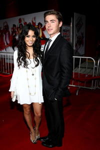 Vanessa Hudgens and Zac Efron at the premiere of