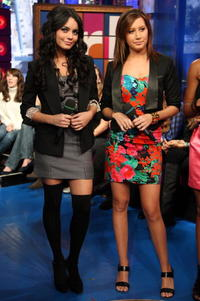 Vanessa Hudgens and Ashley Tisdale at the MTV's