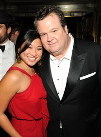 Jenna Ushkowitz and Eric Stonestreet at the Fox Broadcasting Company, Twentieth Century Fox Television and FX 2010 Emmy Nominee party.