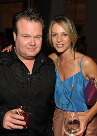 Eric Stonestreet and Jessalyn Gilsig at the 9th Annual InStyle summer soiree in California.