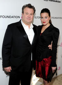 Eric Stonestreet and Katherine Tokarz at the 19th Annual Elton John AIDS Foundation Academy Awards Viewing party.
