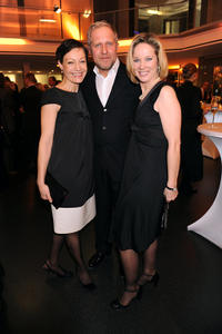 Marion Mitterhammer, Harald Krassnitzer and Ann-Kathrin Kramer at the DEU: ARD Advent Dinner in Germany.